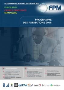 COUVERTURE DE BROCHURE PROGRAMME DES FORMATIONS
