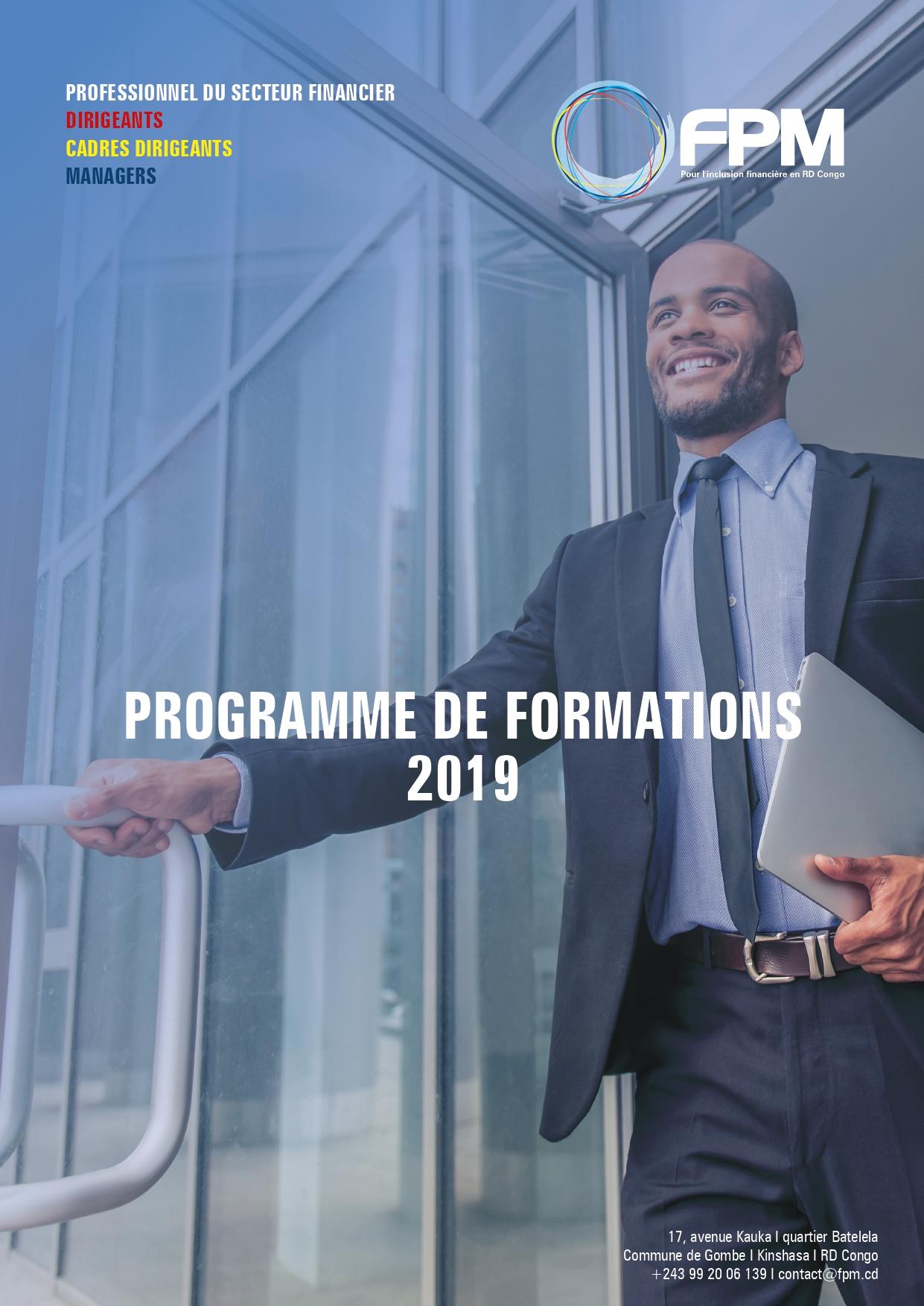 Le programme de formation 2019 du FPM