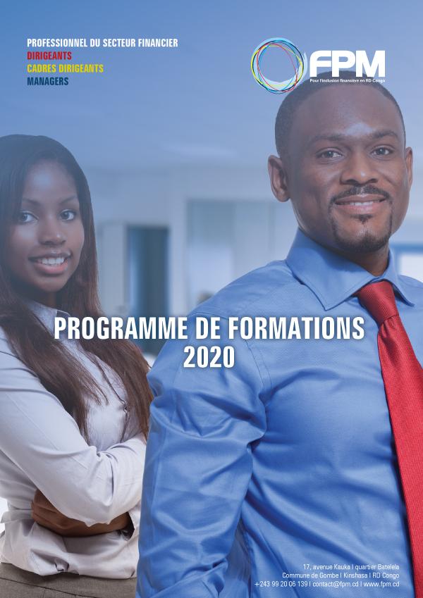 Lancement du programme de formation 2020